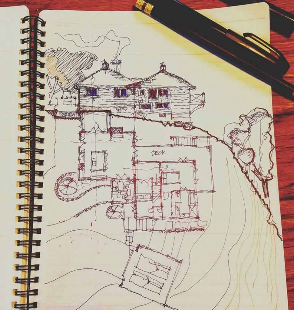 Mountain Park_new house sketch2017